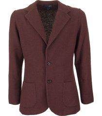 lardini single-breasted merino wool knit jacket