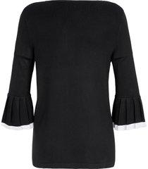 trui met ronde hals van emilia lay zwart