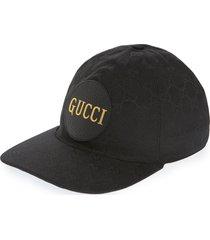 men's gucci gg logo canvas baseball cap -