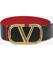 valentino garavani reversible vlogo leather belt