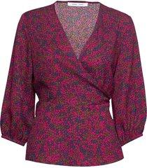 veneta blouse aop 7947 blouse lange mouwen roze samsøe samsøe