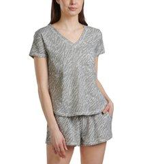 splendid women's printed 2pc pajama shorts set