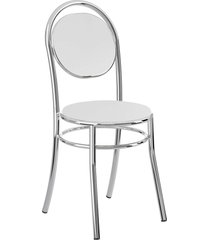 conjunto 2 cadeiras 190 napa cromado móveis carraro branco