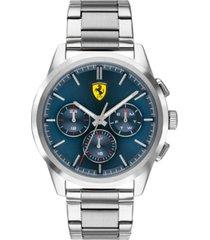 ferrari men's chronograph grand tour stainless steel bracelet watch 44mm