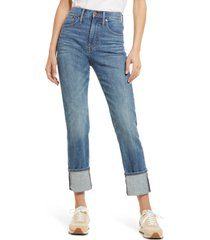women's madewell selvedge edition classic straight jeans, size 32 - blue