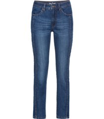 jeans cropped elasticizzati comfort slim (blu) - john baner jeanswear