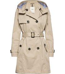 coats woven trenchcoat lange jas beige esprit casual