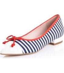 ballerinaskor alba moda marinblå::vit::röd
