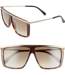 women's givenchy 62mm oversize flat top sunglasses -