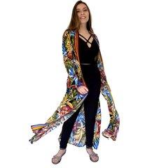 kimono largo flores tropicales natalia seguel
