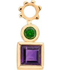 amethyst and diopside charm