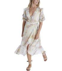 allison new york women's tie dye wrap dress