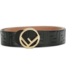 fendi f is fendi buckle belt - black