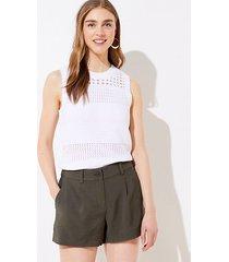 loft textured pleated shorts