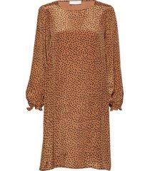 romy short dress jurk knielengte bruin storm & marie