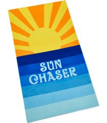 martha stewart collection sun chaser beach towel, created for macy's bedding