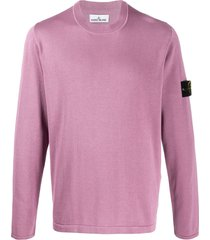 stone island compass badge logo pullover - pink