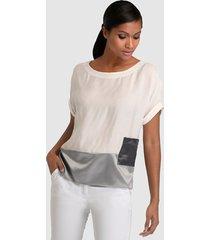 blouse alba moda wit::grijs