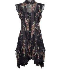 fleur melisma dress kort klänning svart allsaints