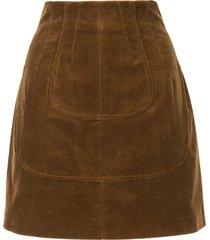 nº21 corduroy mini skirt - brown