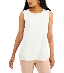 alfani textured sleeveless top, created for macy's