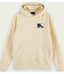 scotch & soda katoenen hoodie met logoprint