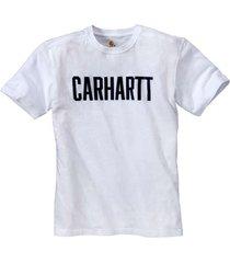 carhartt t-shirt men block logo s/s white-xl