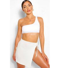 tie side jersey beach sarong, ivory