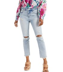 inc international concepts ripped straight-leg jeans, created for macy's
