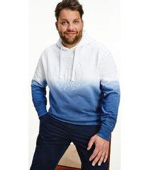tommy hilfiger men's big and tall organic cotton dip-dye hoodie desert sky - 5xl