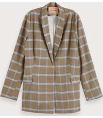scotch & soda geruite seersucker blazer