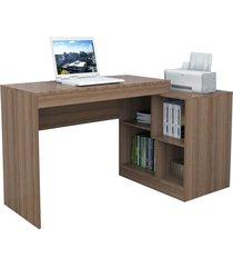 escrivaninha e mesa p/ computador moove castanho appunto marrom - marrom - dafiti