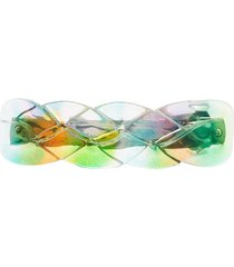 valet studio billie rainbow hair clip - green