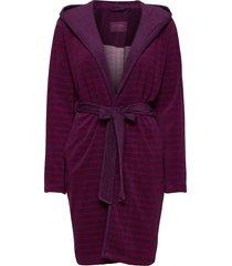 bath robe morgonrock röd schiesser