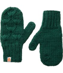 women's sh*t that i knit the motley merino wool mittens, size one size - green