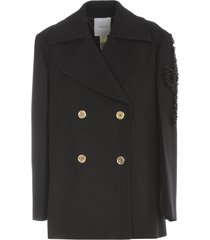 double breasted peacoat w/ gold buttons
