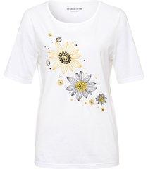 t-shirt van 100% katoen met korte mouwen van green cotton wit