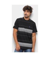 camiseta aleatory frisos masculina