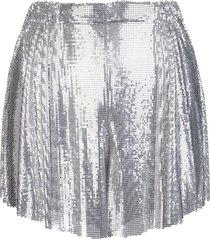 silver woman shorts