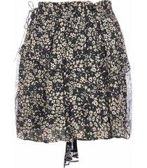 isabel marant étoile itelo floral print viscose miniskirt