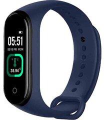 smartband pulsera inteligente m4 pro control ritmo cardiaco azul