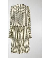 plan c geometric print silk dress