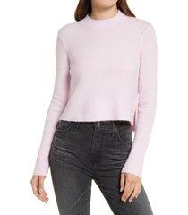 allsaints wick alpaca blend crop sweater, size medium in soft pink at nordstrom