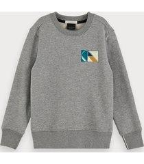 scotch & soda branded long sleeve sweatshirt
