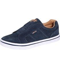 skor lico marinblå
