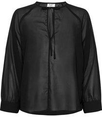 day meeting solid blouse lange mouwen zwart day birger et mikkelsen