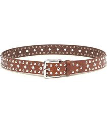 rica studded belt in brown
