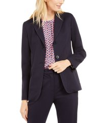 weekend max mara topstitched lapel-collar two-button jacket