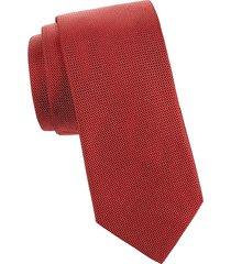 eton men's textured silk tie - pink red