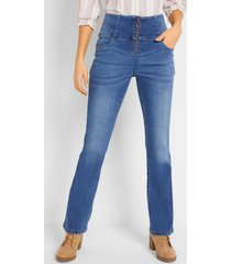 corrigerende high-waist stretch jeans, bootcut